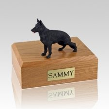 German Shepherd Black Standing Dog Urns