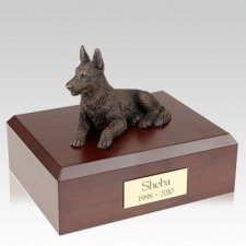German Shepherd Bronze Dog Urns