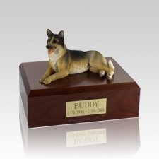 German Shepherd Laying Large Dog Urn