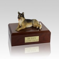 German Shepherd Laying Medium Dog Urn