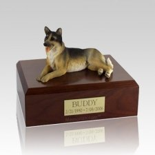 German Shepherd Laying X Large Dog Urn