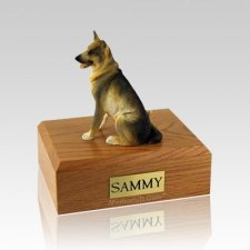 German Shepherd Sitting Large Dog Urn