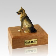 German Shepherd Sitting X Large Dog Urn