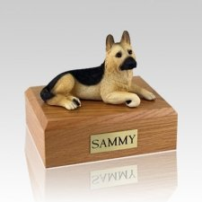 German Shepherd Tan Large Dog Urn