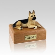 German Shepherd Tan Small Dog Urn