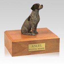 German Shorthair Sitting Large Dog Urn