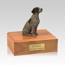 German Shorthair Sitting Medium Dog Urn
