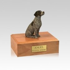 German Shorthair Sitting Small Dog Urn