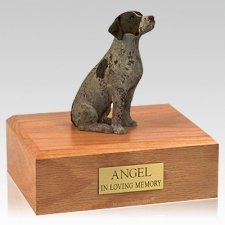 German Shorthair Sitting Dog Urns