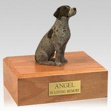 German Shorthair Sitting X Large Dog Urn