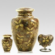 Gilded Butterflies Cloisonne Cremation Urns