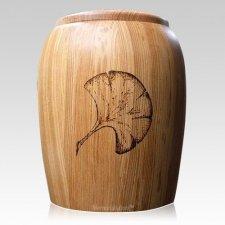 Ginkgo Leaf Wood Cremation Urn