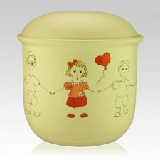 Girl Balloon Child Urn