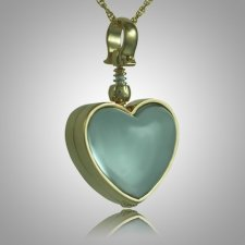 Heart Glass Locket Memorial Jewelry II