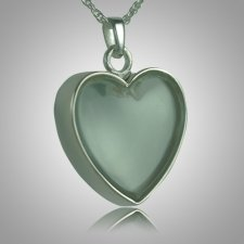 Heart Glass Memorial Jewelry