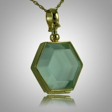 Hexagon Glass Locket Memorial Jewelry II