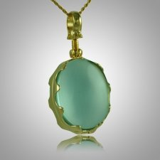 Oval Glass Locket Memorial Jewelry II