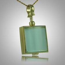 Square Glass Locket Memorial Jewelry II