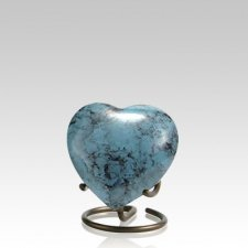 Glenwood Blue Heart Keepsake Urn
