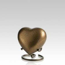 Glenwood Bronze Heart Keepsake Urn