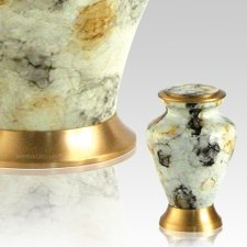 Glenwood White Keepsake Cremation Urn