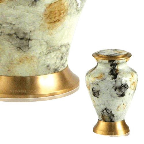 Glenwood White Keepsake Cremation Urn