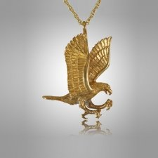 Gliding Eagle Cremation Jewelry II