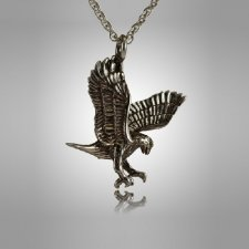 Gliding Eagle Cremation Jewelry