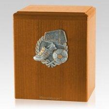 Goal Oak Cremation Urn
