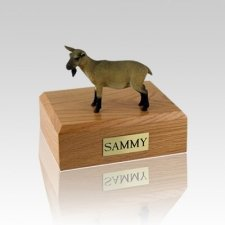 Goat Brown Medium Cremation Urn