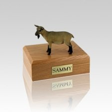 Goat Brown Small Cremation Urn