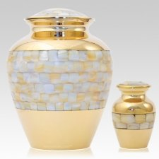 Gold Pearl Cremation Urns