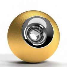 Gold & Chrome Orb Urns