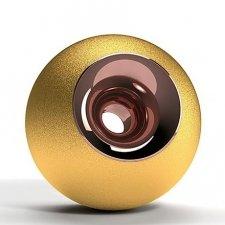 Gold & Copper Orb Urns