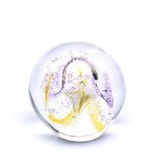 Gold & Purple Embrace Medium Memory Glass Keepsake