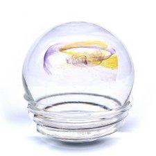 Gold & Purple Galactic Memory Glass Keepsake