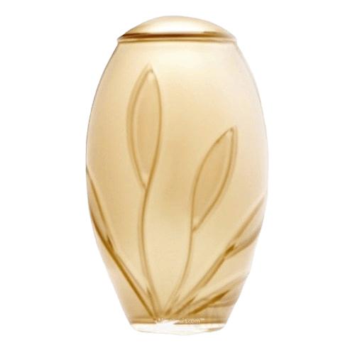 Gold Bloom Glass Cremation Urn