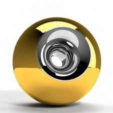 Gold Chrome Orb Urns