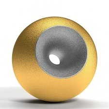 Gold Chrome Sand Orb Urns