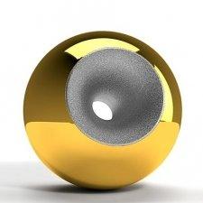 Gold Chrome Splice Orb Urns