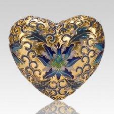 Gold Copper Heart Keepsake Urn