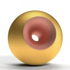 Gold Copper Sand Sphere Pet Urn