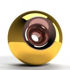 Gold Copper Sphere Pet Urn