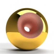 Gold Copper Splice Orb Urns