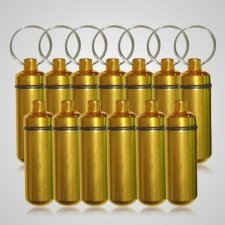 Gold Cremation Discount Keychains