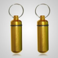 Gold Cremation Keychains