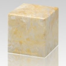 Gold Cube Keepsake Cremation Urn