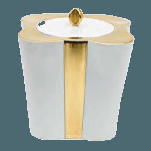 Gold Floral Porcelain Urn