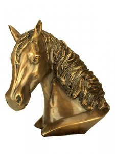 Gold Horse Keepsake Urn