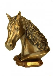 Gold Horse with Base Keepsake Urn